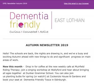 Dementia Friendly East Lothian's Newsletter