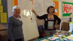 Tillie & Carol at the Health and Wellbeing Stall